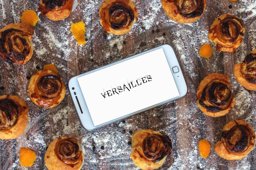 Binge-Watching Snack: Versailles Staffel 1 - Schoko-Mandelcreme mit Pfeffer und Orange in Blätterteig.
