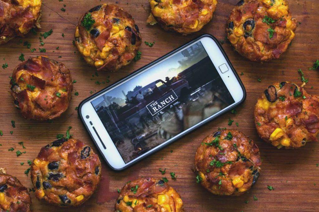 """Rezept: Frühstücks Rührei Muffins. Binge-Watching Snack für """"The Ranch"""""""