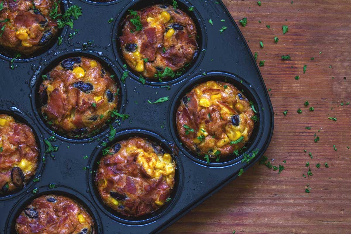 Rezept: Frühstücks Rührei Muffins