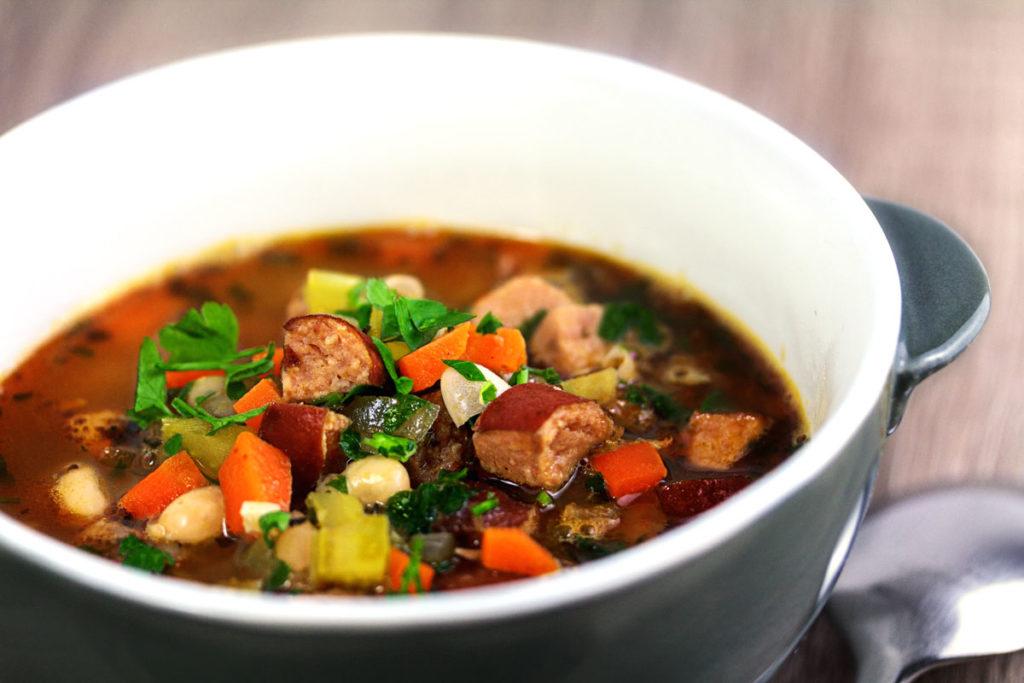 Rezept: Weiße Bohnen Gemüse Suppe