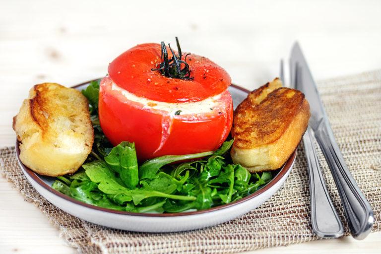 Gefüllte Tomaten mit Ricottacreme