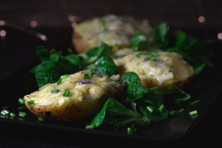 Gefüllte Kartoffeln mit Fourme d'Ambert